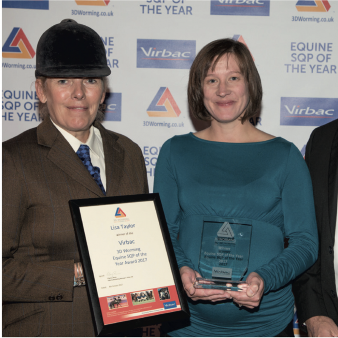 Virbac 3D Worming Equine SQP of the year award